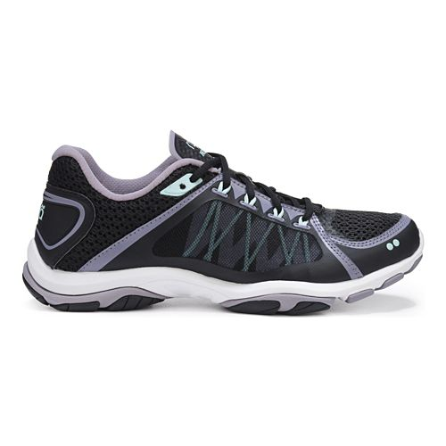 Womens Ryka Influence 2 Cross Training Shoe - Black/Purple 7.5