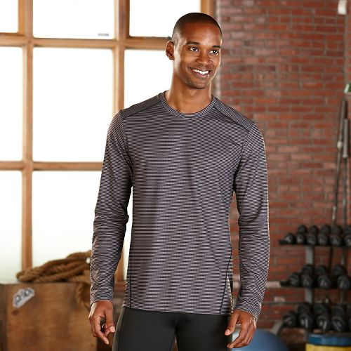 Mens R-Gear Runners High Printed Long Sleeve Technical Tops - Black Stripe L