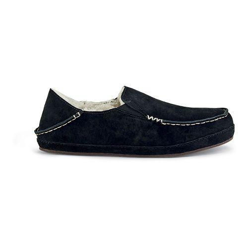 Womens OluKai Nohea Slipper Casual Shoe - Black/Black 5