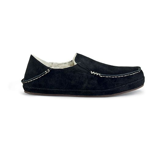 Womens OluKai Nohea Slipper Casual Shoe - Black/Black 7