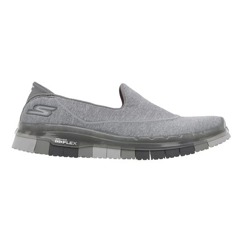 Womens Skechers GO Flex Walk Walking Shoe - Grey 5