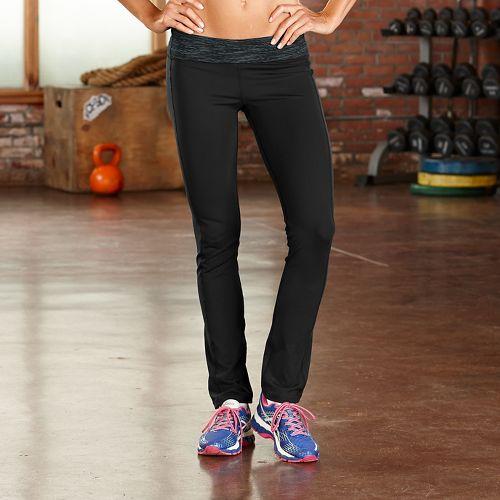 Womens Road Runner Sports Run, Walk, Play Skinny Pants - Black/Charcoal L