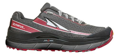 Mens Altra Olympus 2.0 Trail Running Shoe - Charcoal/Red 7