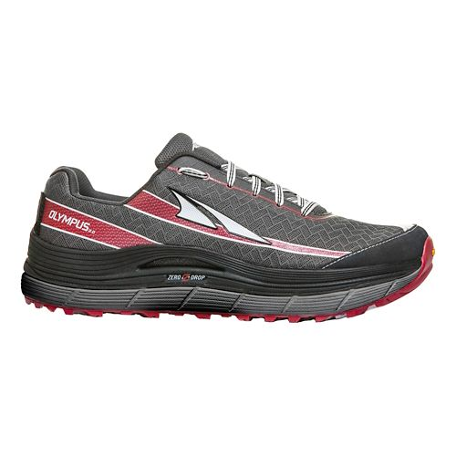 Mens Altra Olympus 2.0 Trail Running Shoe - Charcoal/Red 10