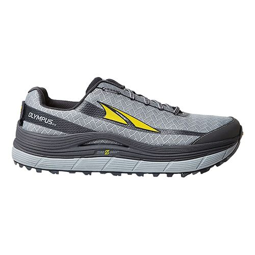 Mens Altra Olympus 2.0 Trail Running Shoe - Silver/Cyber Yellow 12.5