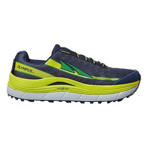 Mens Altra Olympus 2.0 Trail Running Shoe - Navy/Lime 8.5