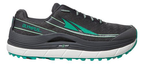 Womens Altra Olympus 2.0 Trail Running Shoe - Charcoal/Green 5.5