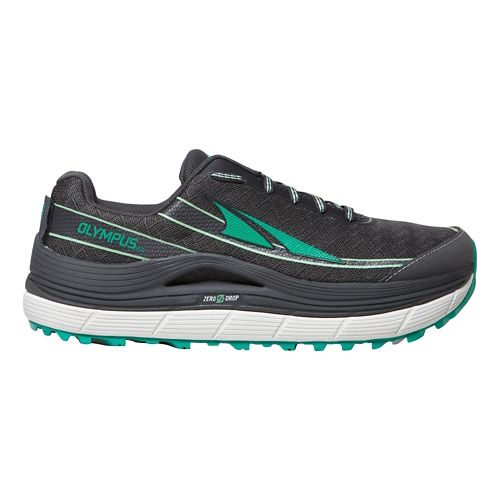 Womens Altra Olympus 2.0 Trail Running Shoe - Charcoal/Green 8.5