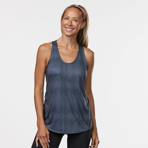 Womens Road Runner Sports Fast and Fab Printed Singlet Sleeveless & Tank Technical Tops - Grey ...
