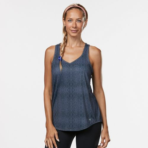 Womens Road Runner Sports Shades of Grey Printed Sleeveless & Tank Technical Tops - Grey ...