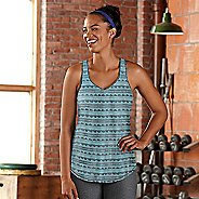 Womens Road Runner Sports Shades of Grey Printed Sleeveless & Tank Technical Tops