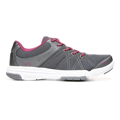 Womens Ryka Summit Casual Shoe - Grey/Wine 7.5