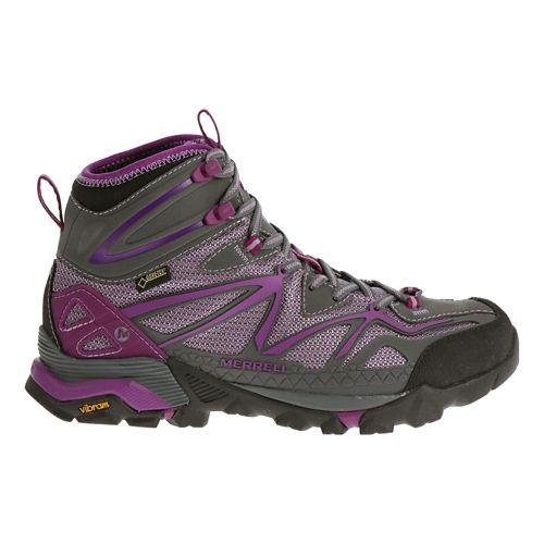 Womens Merrell Capra Sport Mid Gore-Tex Hiking Shoe - Royal Lilac 9.5