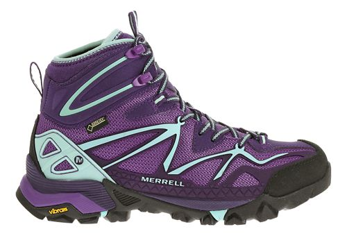 Womens Merrell Capra Sport Mid Gore-Tex Hiking Shoe - Royal Lilac 6