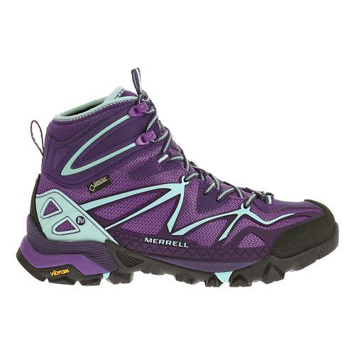 Womens Merrell Capra Sport Mid Gore-Tex Hiking Shoe - Royal Lilac 10.5