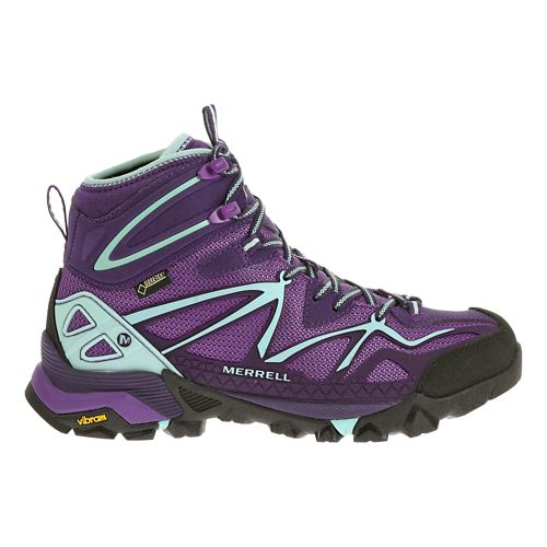 Womens Merrell Capra Sport Mid Gore-Tex Hiking Shoe - Royal Lilac 7