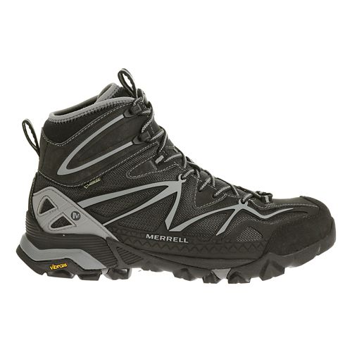 Mens Merrell Capra Sport Mid Gore-Tex Hiking Shoe - Black/Wild Dove 8
