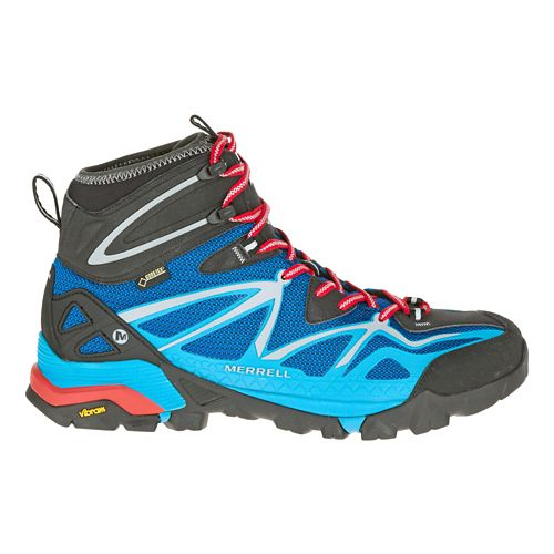 Mens Merrell Capra Sport Mid Gore-Tex Hiking Shoe - Blue 7