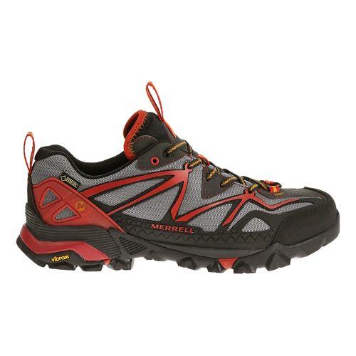 Mens Merrell Capra Sport GORE-TEX Hiking Shoe - LT Grey/Red 12