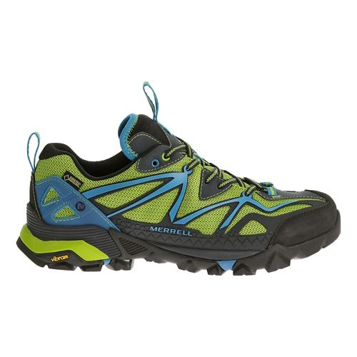 Mens Merrell Capra Sport GORE-TEX Hiking Shoe - Black/Lime Green 10.5