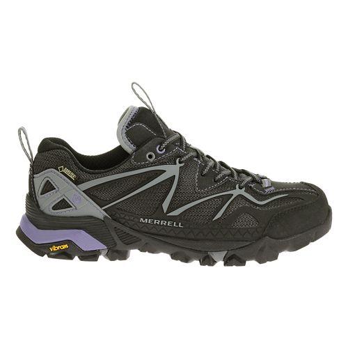 Womens Merrell Capra Sport GORE-TEX Hiking Shoe - Black/Grey 7.5