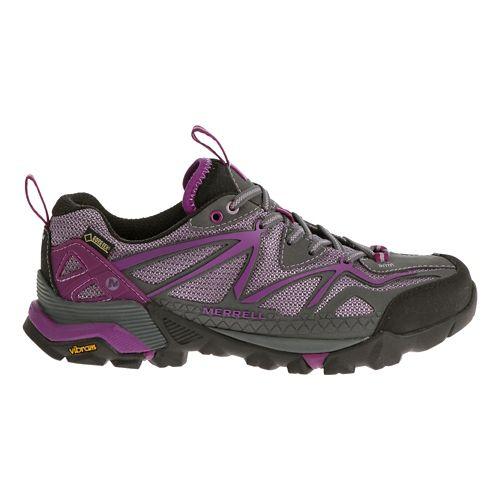 Womens Merrell Capra Sport GORE-TEX Hiking Shoe - Purple 6.5