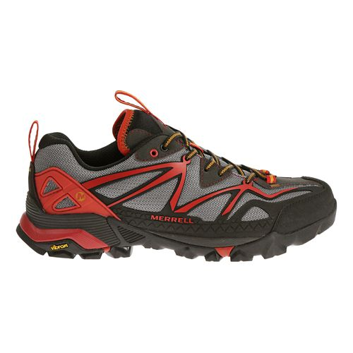 Mens Merrell Capra Sport Hiking Shoe - LT Grey/Red 9