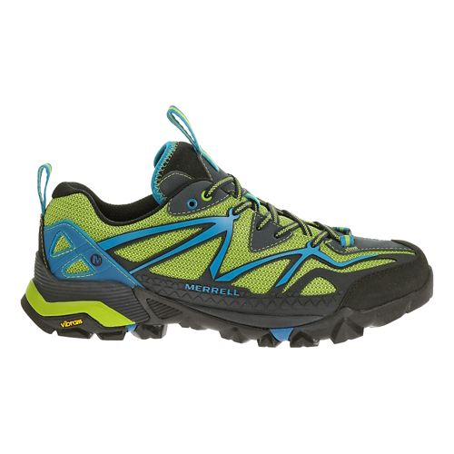 Mens Merrell Capra Sport Hiking Shoe - Black/Lime Green 10