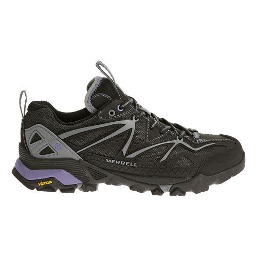 Womens Merrell Capra Sport Hiking Shoe - Black/Grey 5.5