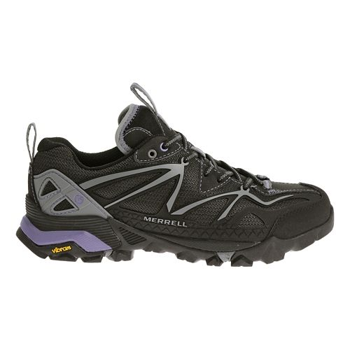Womens Merrell Capra Sport Hiking Shoe - Black/Grey 7