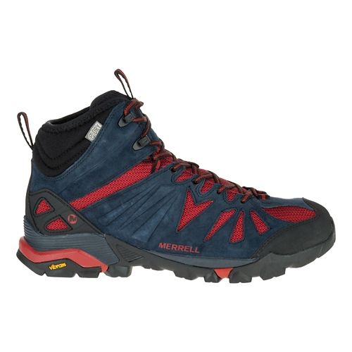 Mens Merrell Capra Mid Waterproof Hiking Shoe - Navy 11