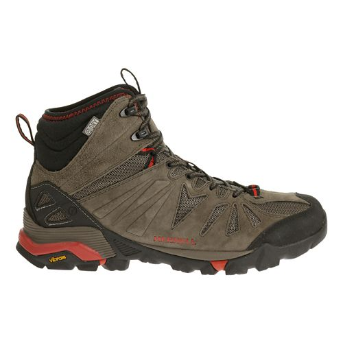 Mens Merrell Capra Mid Waterproof Hiking Shoe - Black/Orange 9