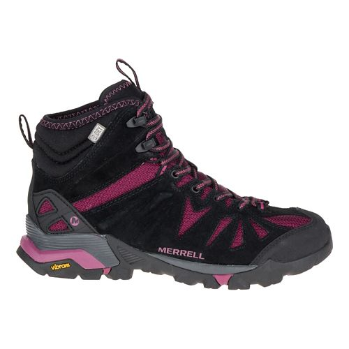 Womens Merrell Capra Mid Waterproof Hiking Shoe - Huckleberry 9.5