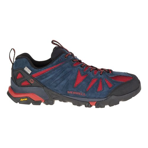 Mens Merrell Capra Waterproof Trail Running Shoe - Navy 10