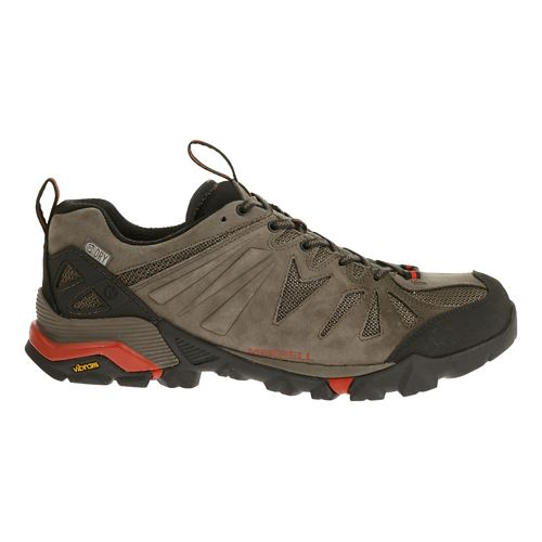 Mens Merrell Capra Waterproof Trail Running Shoe - Black/Orange 10.5