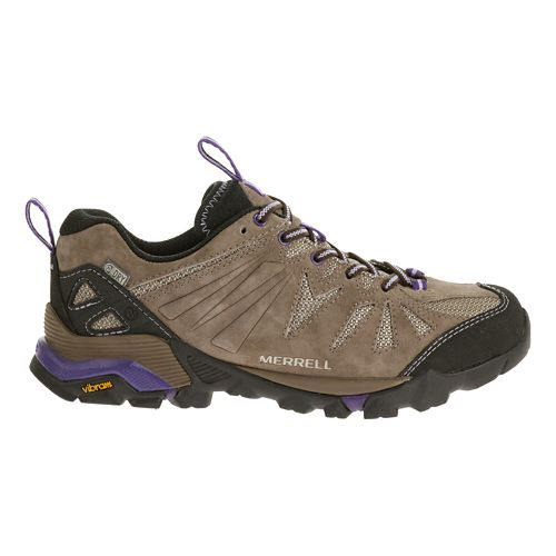 Womens Merrell Capra Waterproof Trail Running Shoe - Taupe 8.5