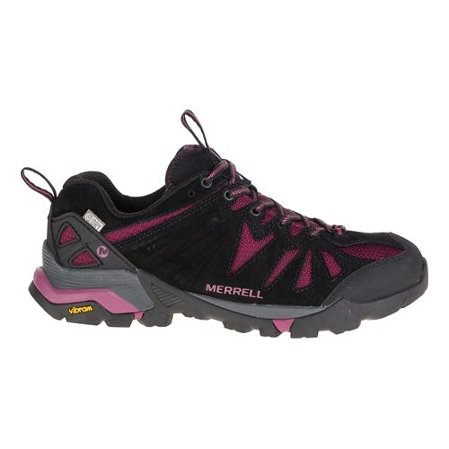 Womens Merrell Capra Waterproof Trail Running Shoe - Huckleberry 9