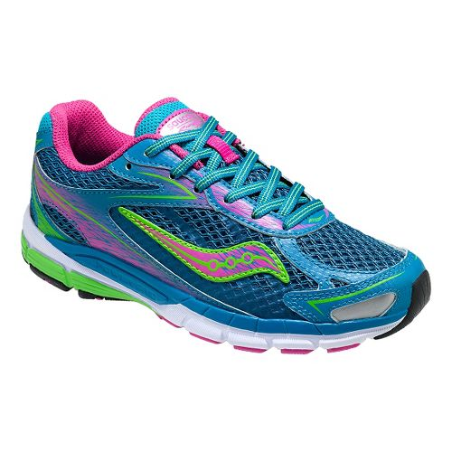 Kids Saucony Ride 8 Running Shoe - Turquoise 6Y