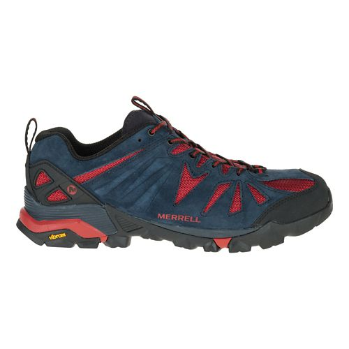 Mens Merrell Capra Trail Running Shoe - Navy 10