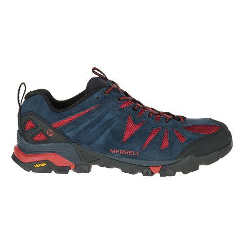 Mens Merrell Capra Trail Running Shoe - Navy 10.5