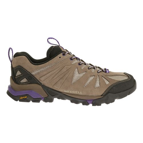Womens Merrell Capra Trail Running Shoe - Taupe 6