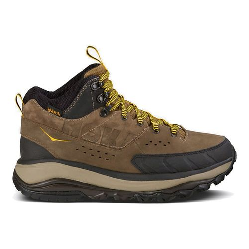 Mens Hoka One One Tor Summit Mid WP Hiking Shoe - Brown/Rod 9.5