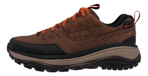 Mens Hoka One One Tor Summit WP Hiking Shoe - Brown/Orange 7.5