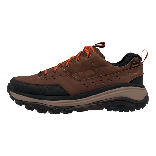 Mens Hoka One One Tor Summit WP Hiking Shoe - Brown/Orange 14