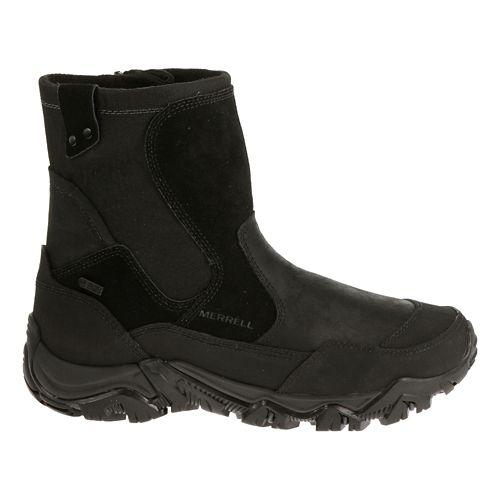 Mens Merrell Polarand Rove Zip Waterproof Hiking Shoe - Black 10.5