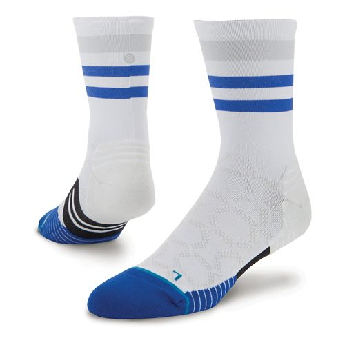 Mens Stance Chamber Crew Socks - White L