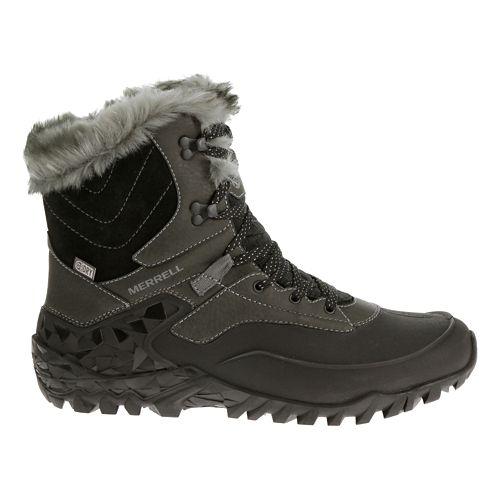 Womens Merrell Fluorecein Shell 8 Waterproof Hiking Shoe - Black 7.5