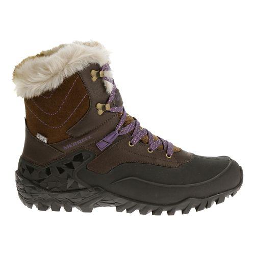 Womens Merrell Fluorecein Shell 8 Waterproof Hiking Shoe - Chocolate Brown 9.5