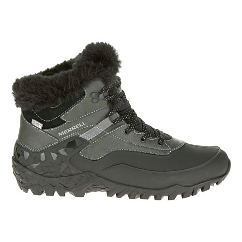 Womens Merrell Fluorecein Thermo 6 Waterproof Hiking Shoe - Black 9.5