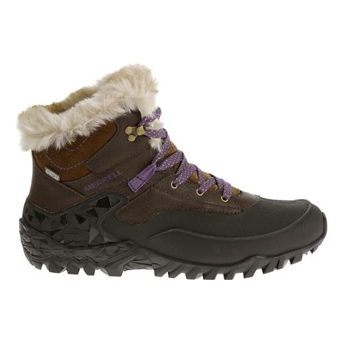 Womens Merrell Fluorecein Thermo 6 Waterproof Hiking Shoe - Chocolate Brown 7.5
